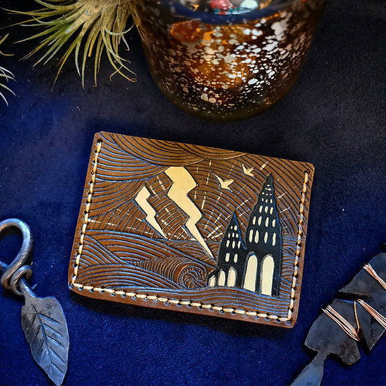 The Tower - handcrafted leather card holder wallet
