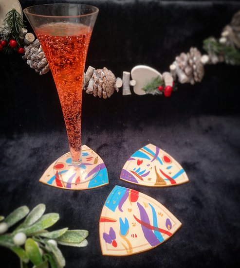 Hand-painted Art Coasters (set of 4)