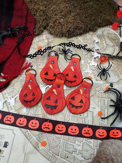 Jack-O-Lantern keyring / bag charm