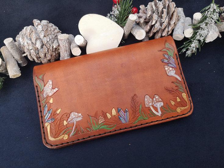 Woodland Wonder Long Leather Wallet