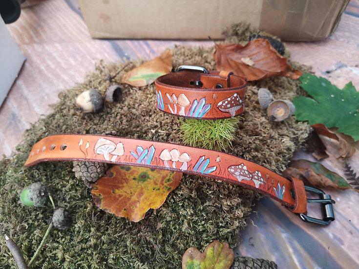 Autumnal leather cuff bracelet