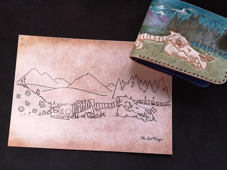 """The Last Dragon"" - A5 Print / Postcard"