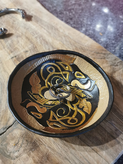 Boar Knotwork Trinket Bowl