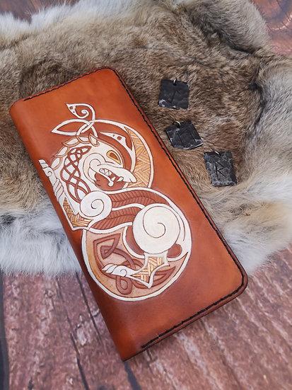 Fenrir long leather wallet - 3 card slot