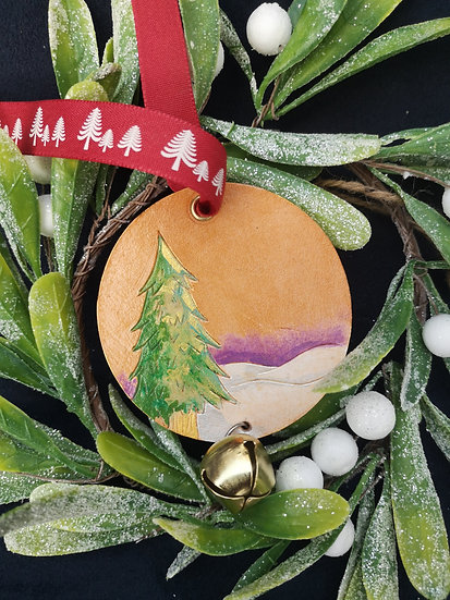 Winter Scene Decoration with Bell