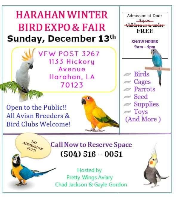 Harahan Bird Fair Flyer, 12-13-2020.JPG