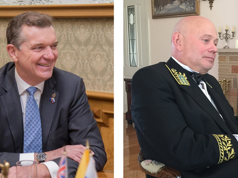 Ambassadors Peter Tesch and Grigory Logvinov address ARD
