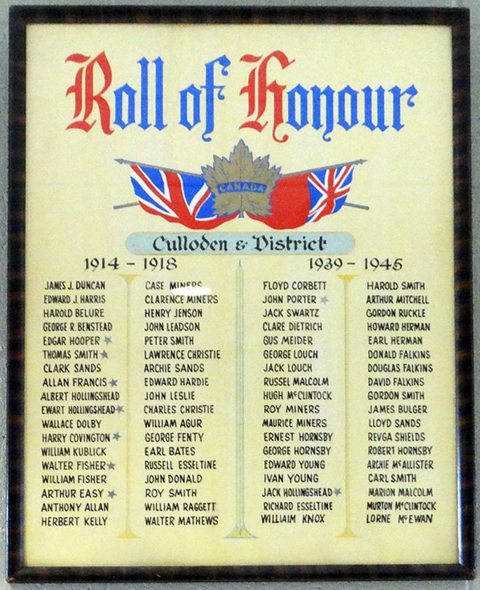 culloden honor roll