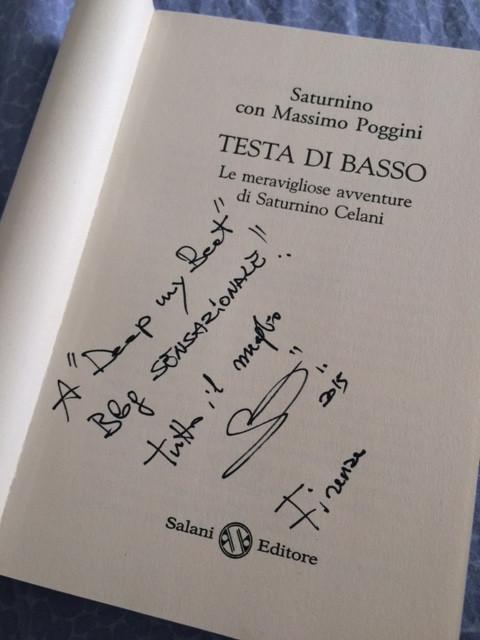 """Saturnino saluta DeepMyBeat all'Ibs di Firenze, dove ha presentato il suo libro """"Testa di b"""