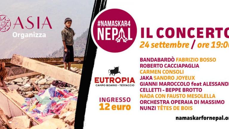 Namaskar! Giovedì, ad Eutropia, tanti artisti in concerto per aiutare il Nepal.