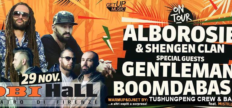 A tutto reggae finalmente con Alborosie&ShengenClan guest Boomdabash e Gentleman domani all'