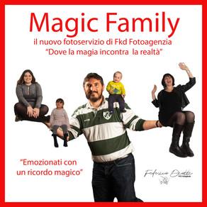 """Magic Family il nuovo fotoservizio per famiglie """"Dove la magia incontra la realtà"""""""