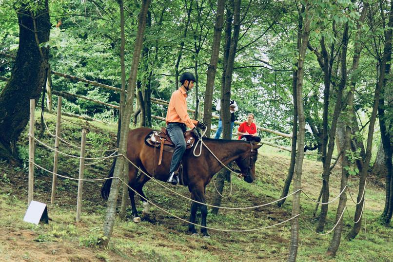 Petr a Bengi na závodech v Nové Říši