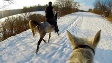 Petr a Gerga na zimní vyjížďce