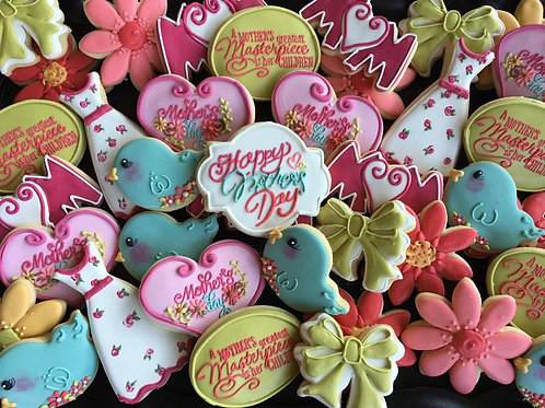 Happy Mother's Day Spring Cookies