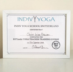 My certification to teach :)
