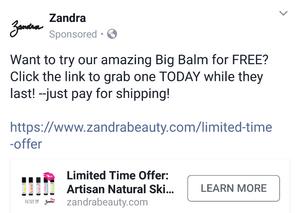 Zandra Beauty Free Big Balm