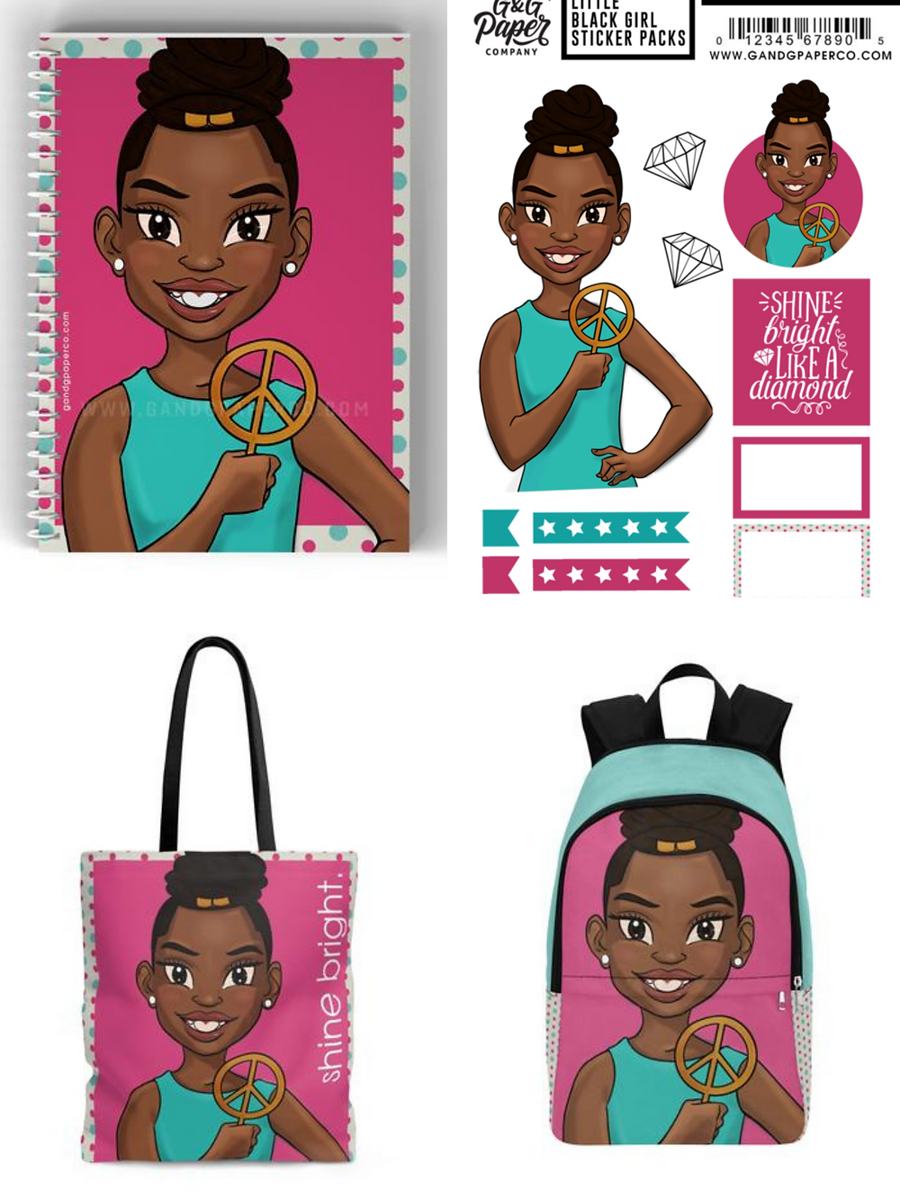 G & G Paper Co., Black-owned notebooks, tote bags, and school supplies
