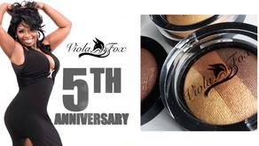 Viola Fox Cosmetics Celebrates Five-Year Anniversary