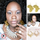 Thumbnail: Gold Acrylic Mirror Mother Africa Earrings