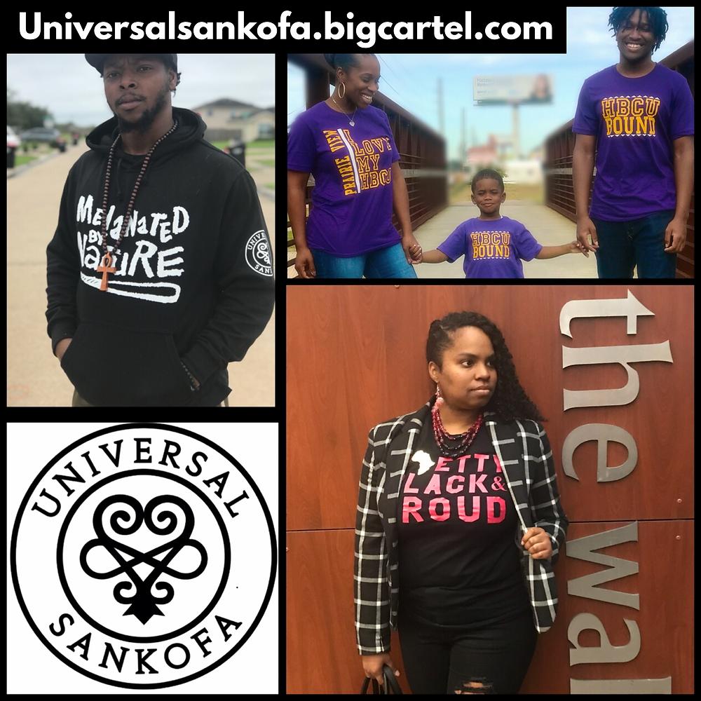 Universal Sankofa, black-owned cultural awareness apprel