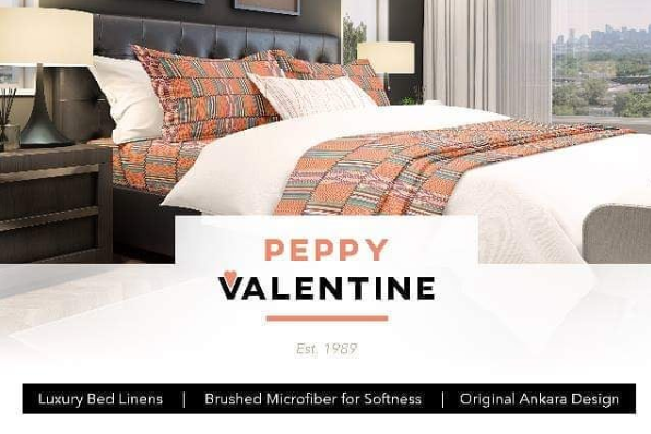 Peppy Valentine, Black-owned African print bedsheets