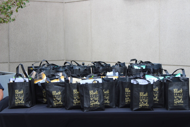 Black Owned Wine and Spirits Festival goodie bags