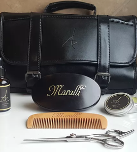 Marlon Maralli, Black-owned men's grooming products and toiletry bag