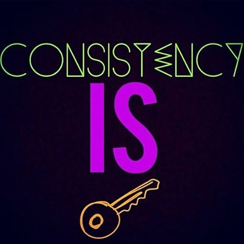 Consistency is key!  Keep doing what you're doing and never give up