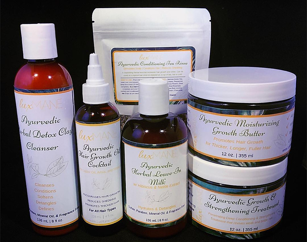 Lux Mane, black-owned Ayurvedic Growth Line
