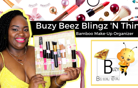 Organize Your Cosmetics with the Buzy Beez Blingz 'N Thingz Bamboo Make-Up Organizer