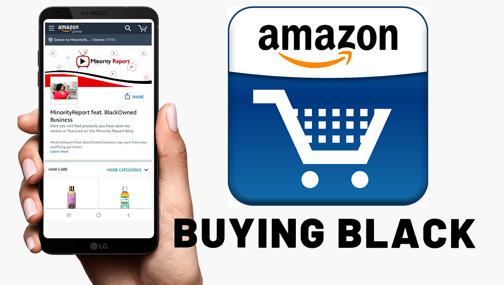 Minority Report Featuring Black Owned Businesses Amazon Affiliate Site