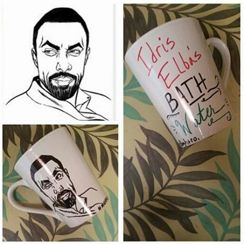 For my coffee muggers, tea sippers, & Idris Elba bath water drinkers, check out my girl _muggedbyhen