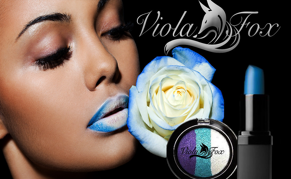 Viola Fox blue lipstick