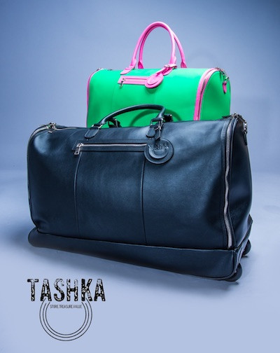 Tashka, Black-owned ROLLING CONVERTIBLE LUGGAGE