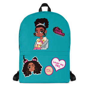 Frobelles, Black-owned backpacks for girls with natural hair from the UK