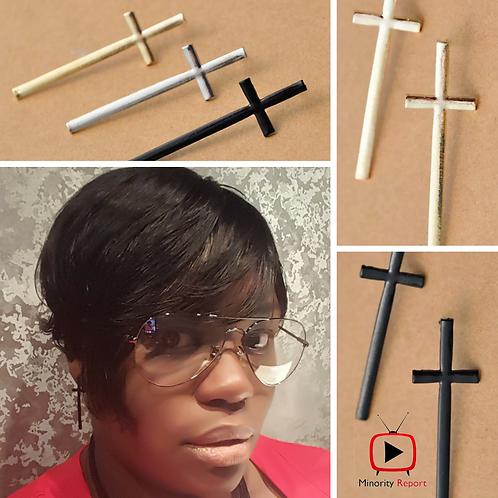 Fashion Cross Earrings