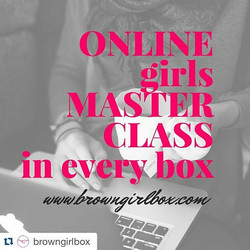 Today's #BlackBizBlast goes to _browngirlbox! ♡♡♡ Building up young girls to be successful women! W