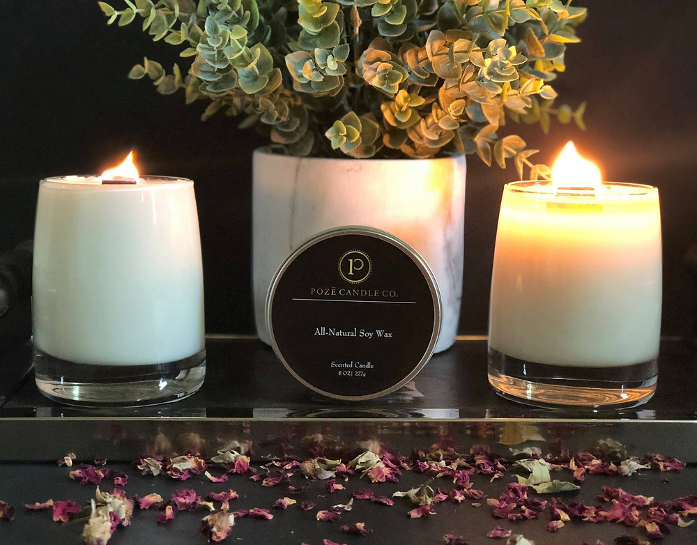 Poze Candles, Black-owned soy Candles