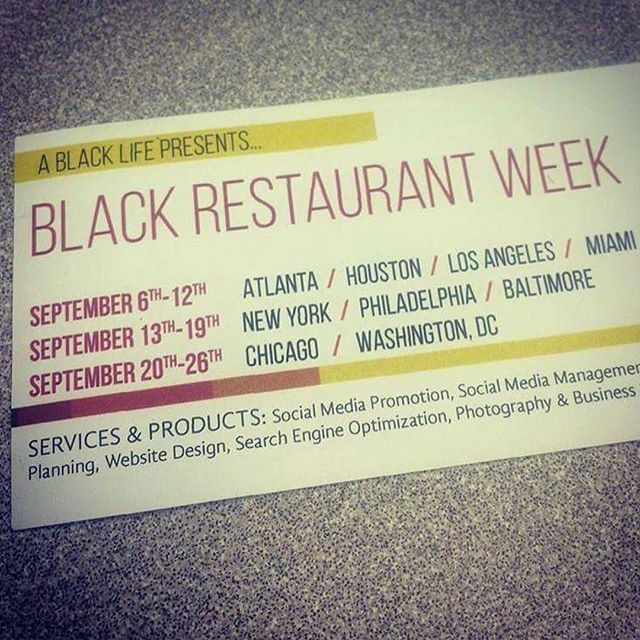 If y'all ain't know! #BlackRestaurantWeek #BlackDollarsMatter #AllBlackErrThang #SupportBlackBiz
