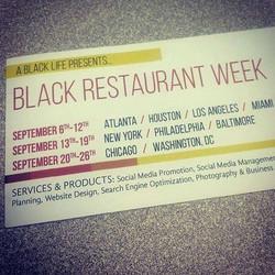 If y'all ain't know! #BlackRestaurantWeek #BlackDollarsMatter #AllBlackErrThang #SupportBlackBiz