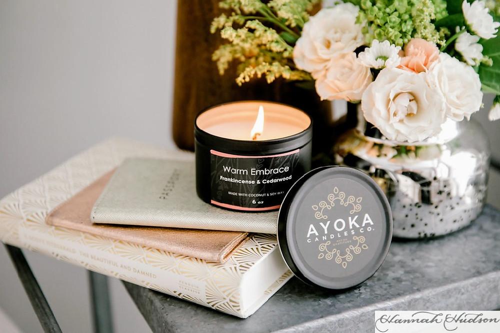 Ayoka Candles, Black-owned soy wax candles