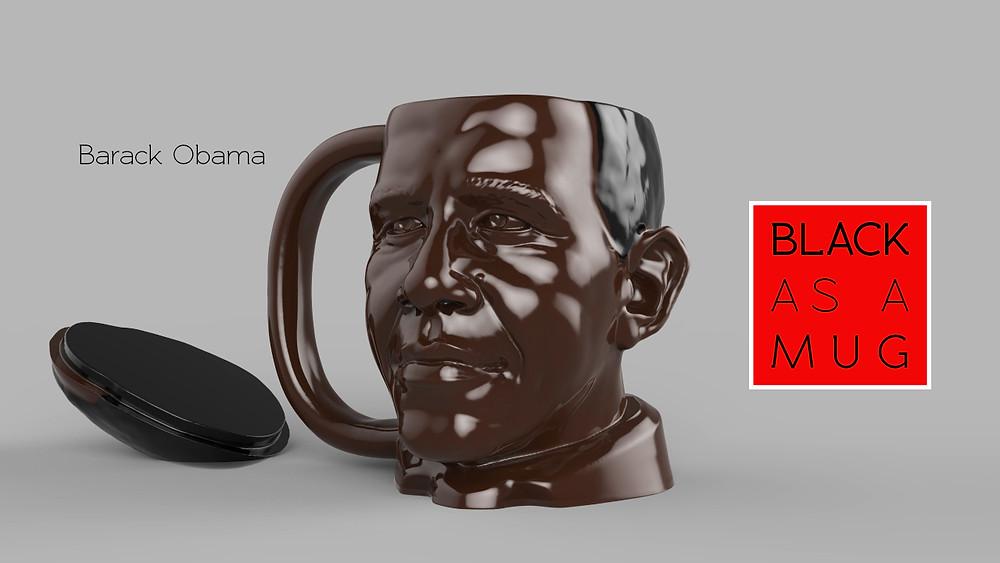Obama Black As A Mug