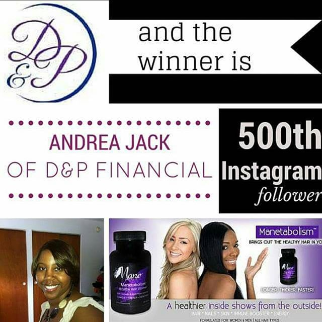 Thank you Andrea Jack of _dnpfinancial for being my 500th IG Follower! I hope you enjoy your product