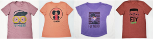 Fly Nerd Apparel, Black-owned quirky screen print t-shirts