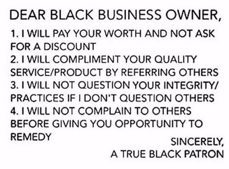 Dear Black Business Owner