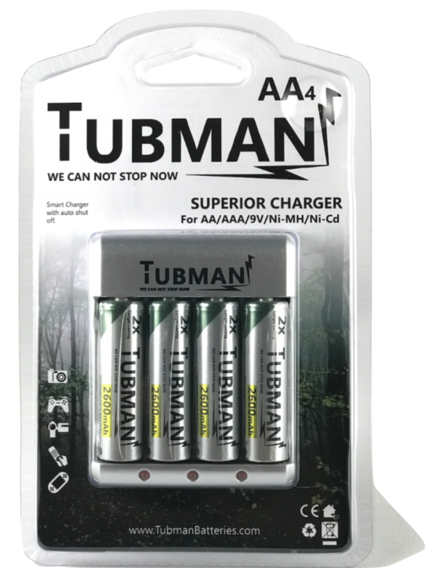 Tubman Batteries, Black-owned batteries with charger