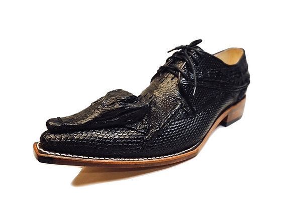 Crocodile Head on Derby Shoe for Men