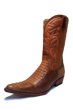 Crocodile mixed Cow Cowboy Western Boot