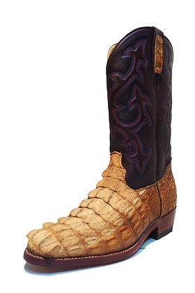 Crocodile mixed Cow Skin Cowboy Western Boot